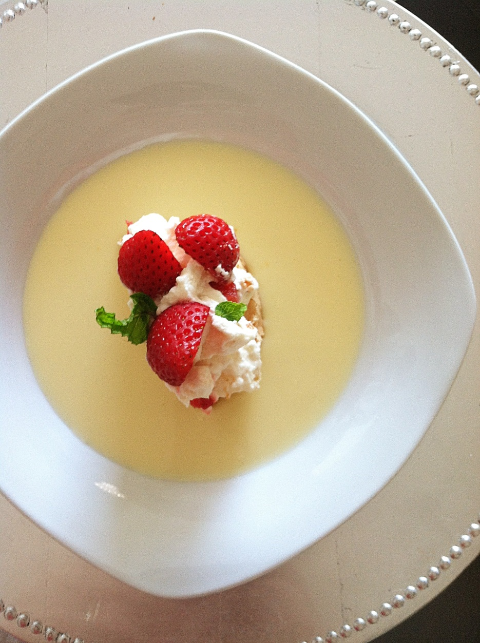 Eton Mess with Crème Anglaise