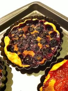 Blueberry Tart in Pan