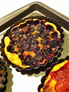 Blueberry Tart in Pan