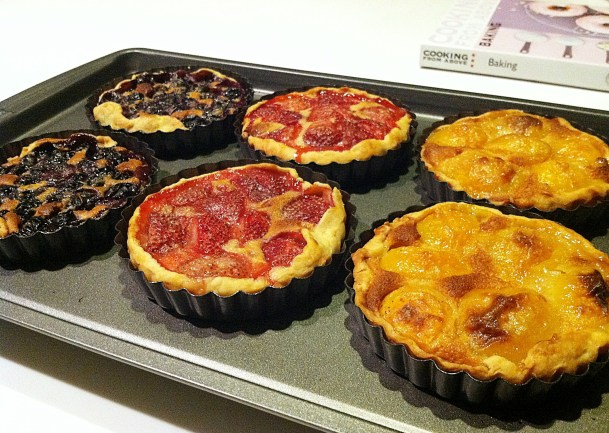 Fresh out of the oven Fruit Tarts
