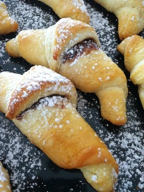 Strawberry & Peach Croissant
