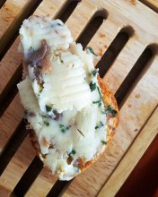 Anchovy Butter on Bread