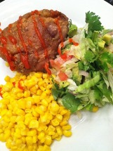 Oven-Fried Chicken with Salsa Fresca Salad