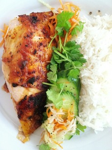 Chicken Inasal with Asian Slaw and Basmati Rice