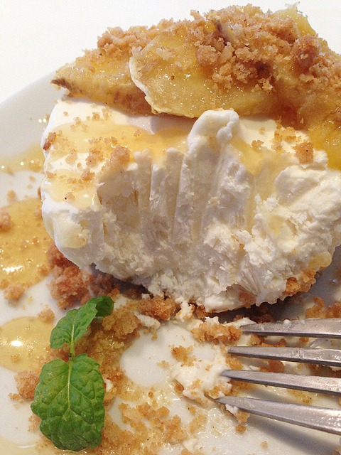 Honey-Drizzled Baked Banana Cheesecake