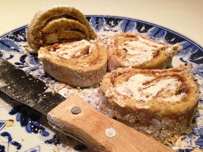 Kahlúa Rum & Coffee Liqueur Roulade with Almonds