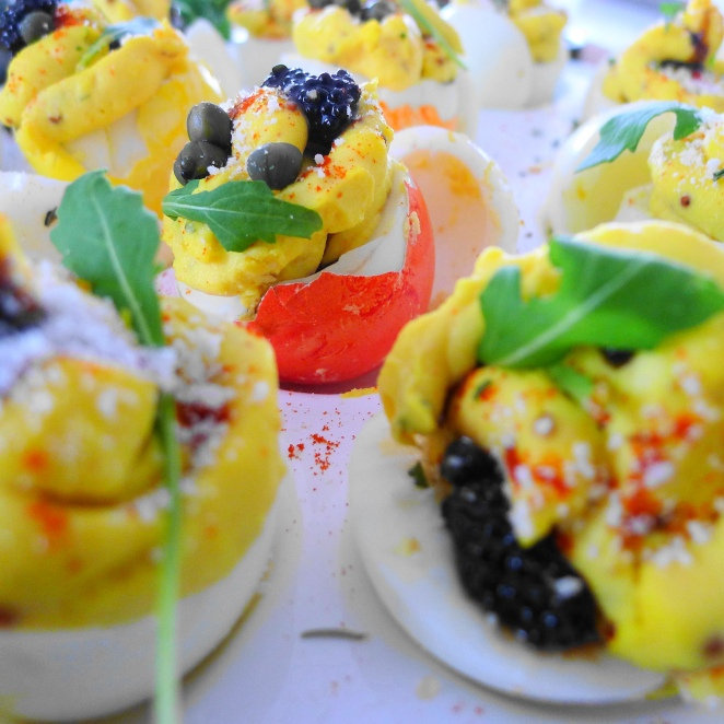 To delicious deviled eggs!
