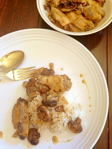 Chicken Adobo with Mushrooms