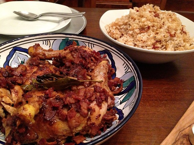 Chicken Adobo with Maple Bacon and Adobo Fried Rice