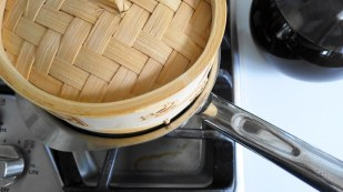 Makings of Taho_Steaming of the Tofu