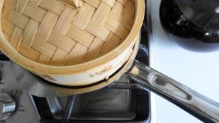 Makings of Taho_Steaming of the Tofu
