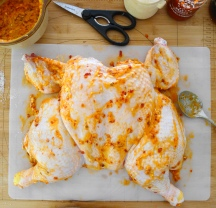 Spatchcocked Chicken with Chili Garlic Butter Spread