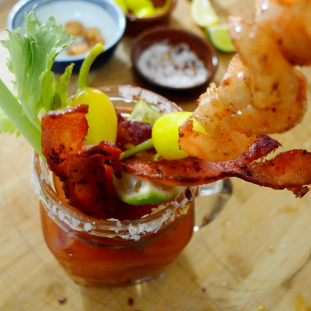 Classic Bloody Mary with Bacon & Shrimp