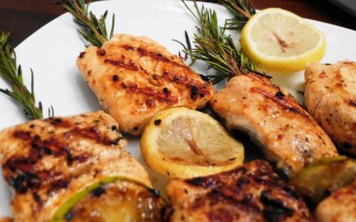 Grilled Rosemary Salmon Skewers