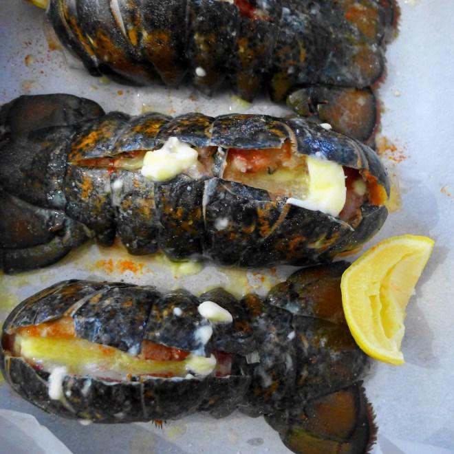 Lobster tails_prep