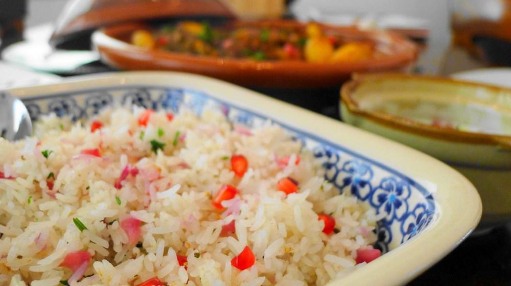 moroccan rice theme pomegranatemoroccan style the cooking apprentice