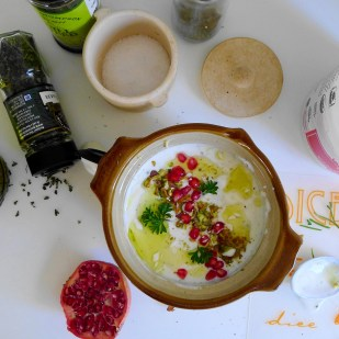 Pomegranate & Pistachio Yogurt Dip