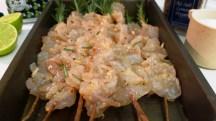 Shrimps on Rosemary Skewers_prep