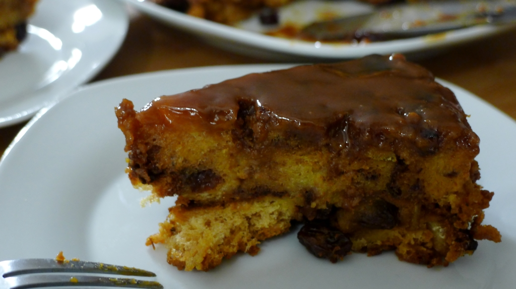 Upside down Panettone Bread Pudding...with Caramel