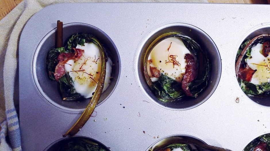Swiss Chard Baked Eggs