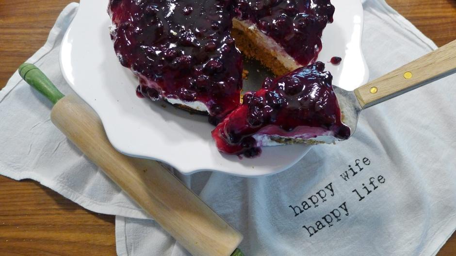 Blueberry Torte...Sliced