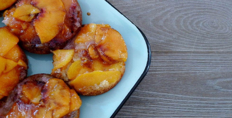 Peach Bourbon Muffin Cakes