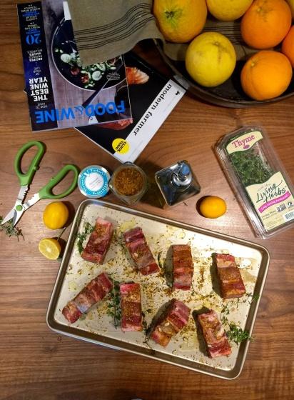 Lamb chops prep