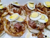 Drizzle adobo fat over eggs