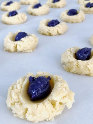 Ube Cookie Butter Thumbprint Cookies The Cooking Apprentice